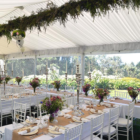 Paramount hiremarqueeglasswarecatering equipment wedding marquee interiors junglespirit Images